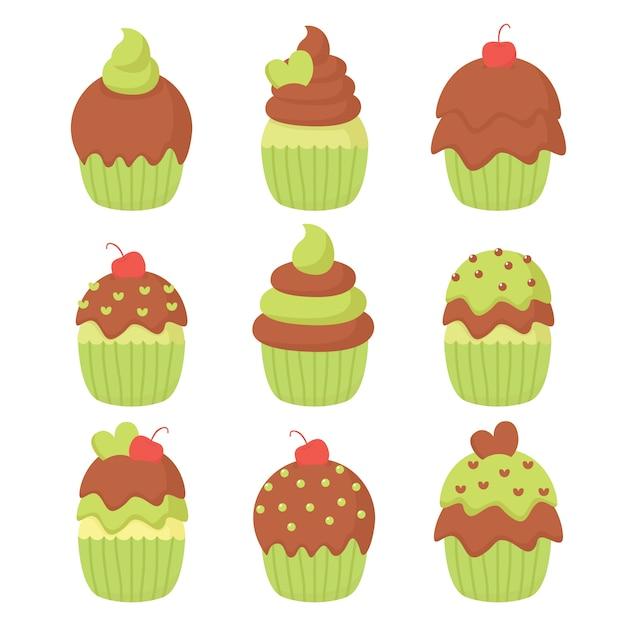 Cupcake abbildung vektor Premium Vektoren