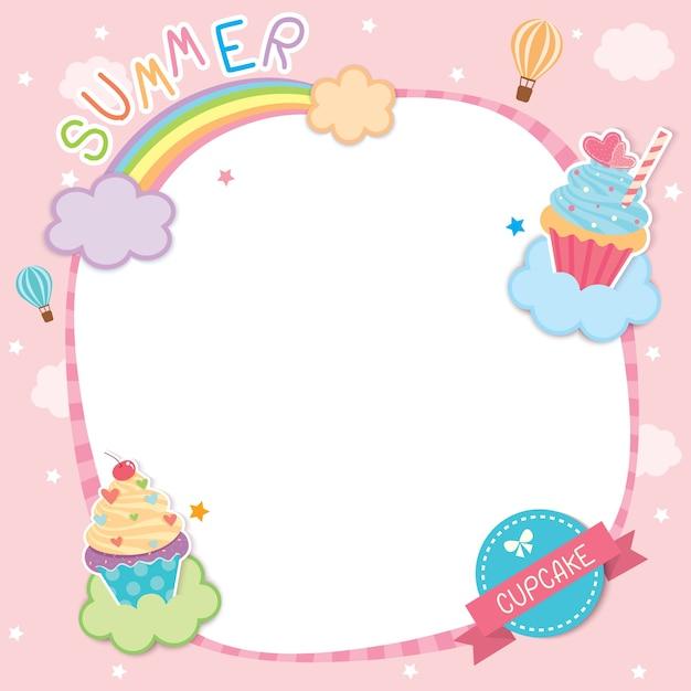 Cupcake wolken Premium Vektoren