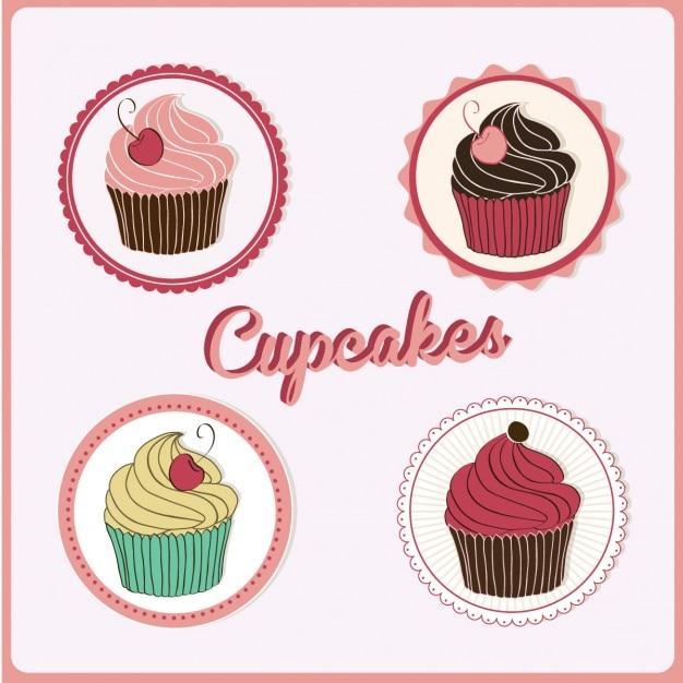 Cupcakes design Kostenlosen Vektoren