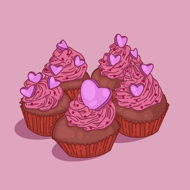 Cupcakes Premium Vektoren