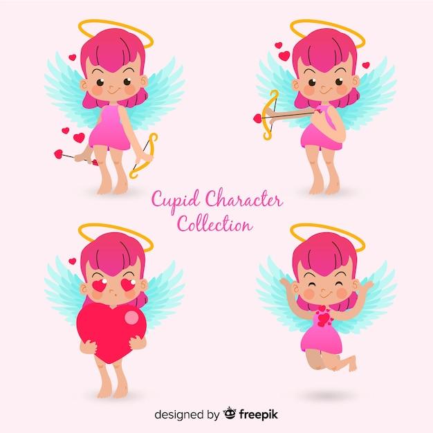 Cupid-charaktersammlung Kostenlosen Vektoren