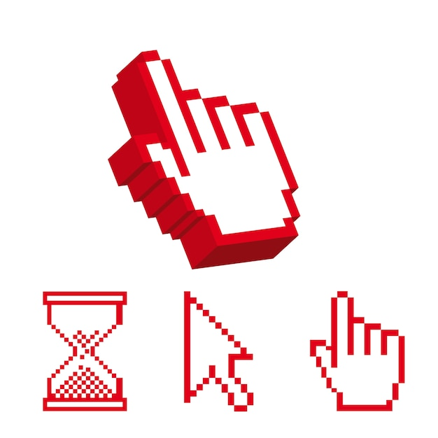 Cursor-symbol auf weißem hintergrund, vektor-illustration Premium Vektoren