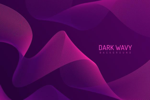 Curvy eleganter hintergrund in den purpurroten tönen Kostenlosen Vektoren