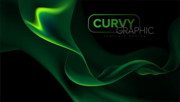 Curvy stripes template design Premium Vektoren