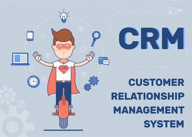 Customer relationship management-system Premium Vektoren