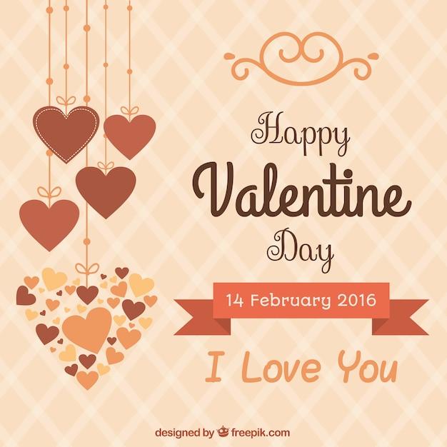 Cute glücklich valentin day background Premium Vektoren