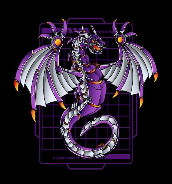 Cyber dragon Premium Vektoren