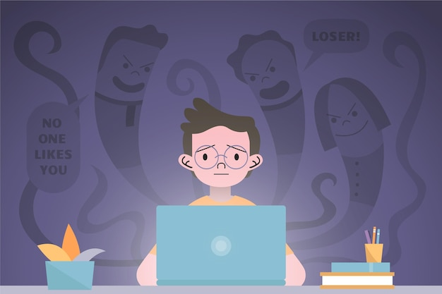 Cyber-mobbing-konzept Kostenlosen Vektoren