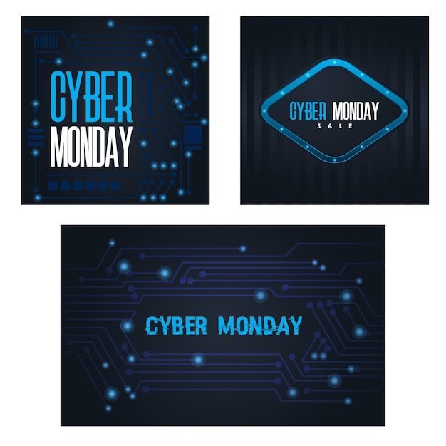 Cyber monday design Premium Vektoren
