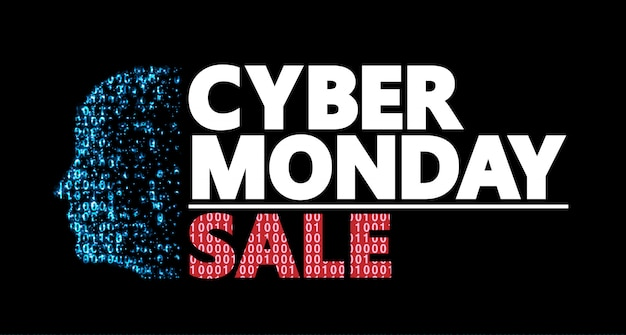 Cyber monday discount coupon design. Premium Vektoren
