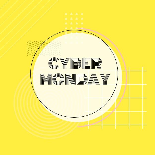 Cyber monday online-einkaufsförderungsvektor Kostenlosen Vektoren