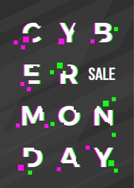 Cyber monday sale abstrakte karte Kostenlosen Vektoren