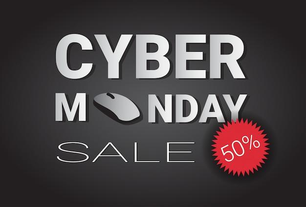 Cyber monday super sale banner Premium Vektoren