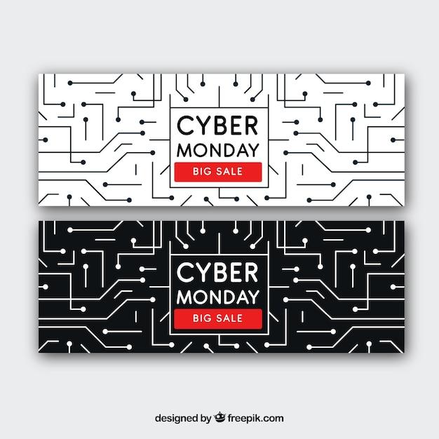 Cyber Montag Banner von Schaltungen | Download der kostenlosen Vektor