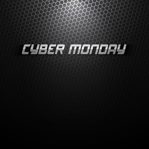 Cyber montag hintergrund Premium Vektoren