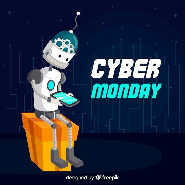 Cyber-montag-roboter Kostenlosen Vektoren