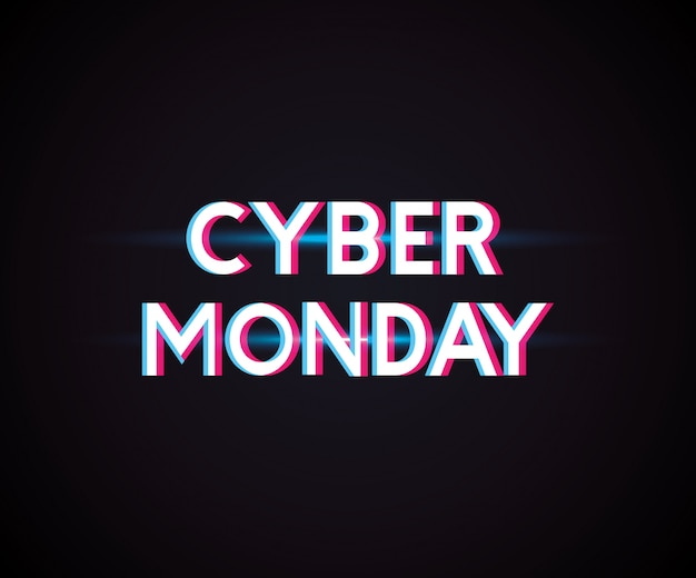 Cyber montag-shop Premium Vektoren