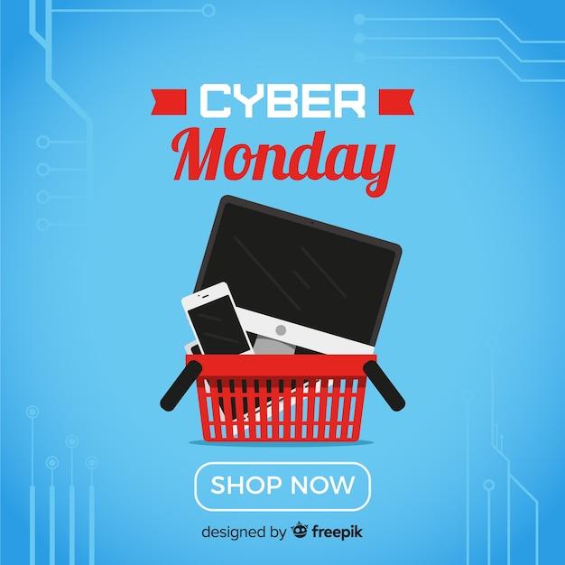 Cyber-montag-shopping Kostenlosen Vektoren
