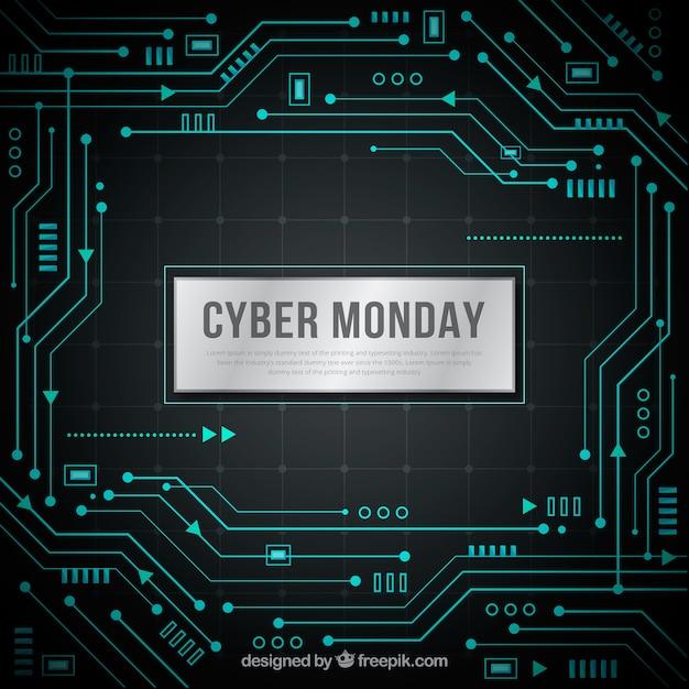 Cyber montag software hintergrund Kostenlosen Vektoren