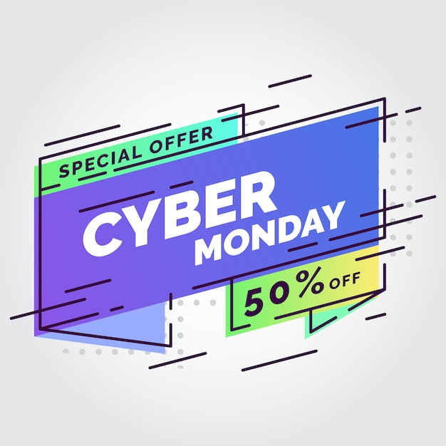 Cyber montag verkauf banner Premium Vektoren