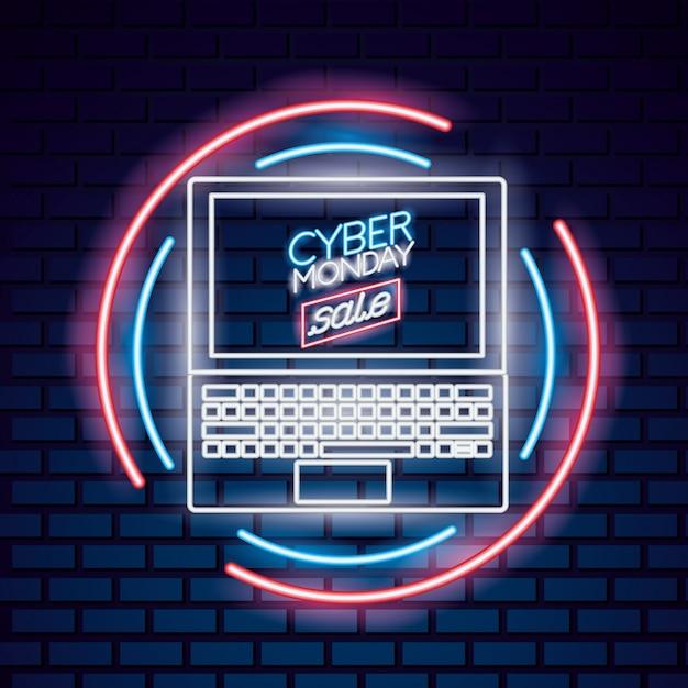 Cyber montag verkauf Premium Vektoren