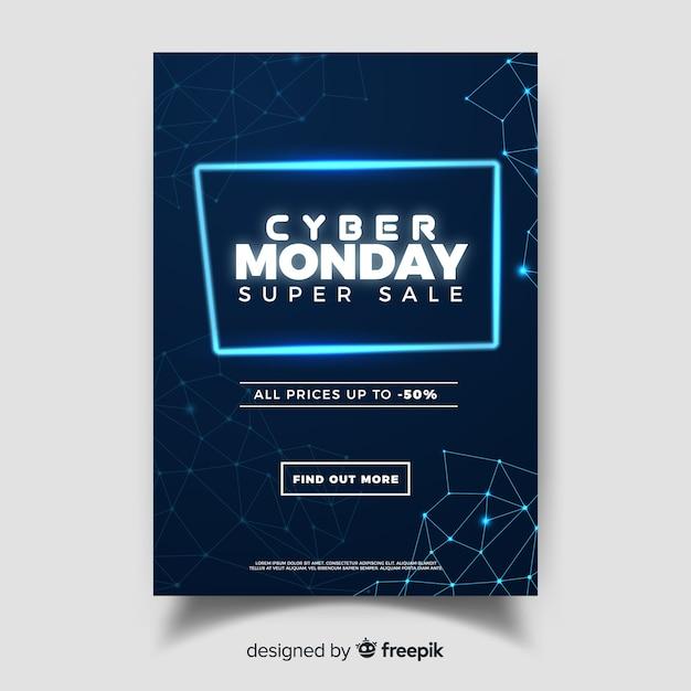 Cyber montag web banner Kostenlosen Vektoren