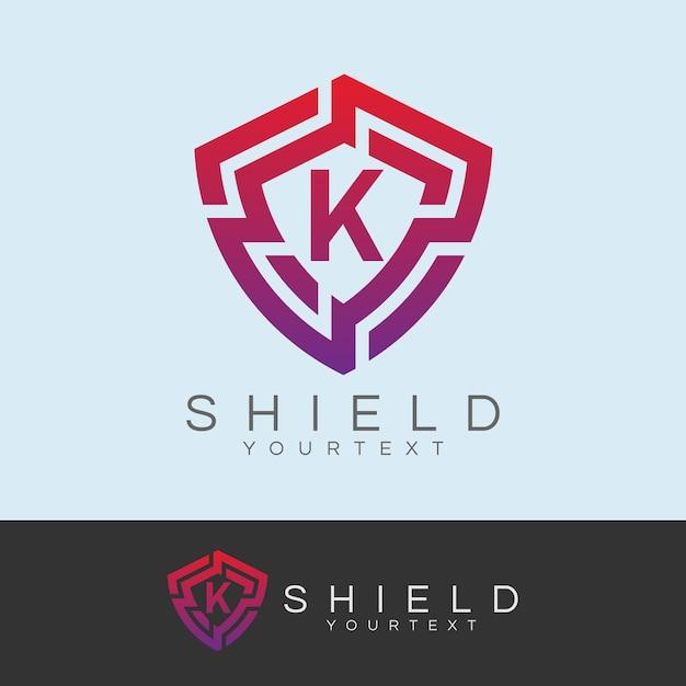 Cyber security anfangsbuchstabe k logo design Premium Vektoren