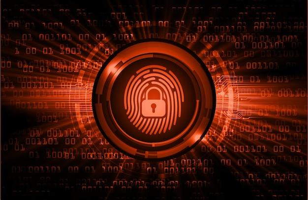 Cyber-sicherheitshintergrund des fingerabdrucknetzwerks. Premium Vektoren