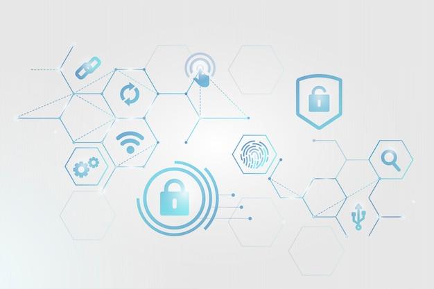Cyber-sicherheitskonzept Kostenlosen Vektoren