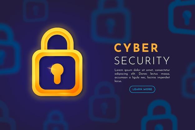 Cyber-sicherheitsstil Kostenlosen Vektoren