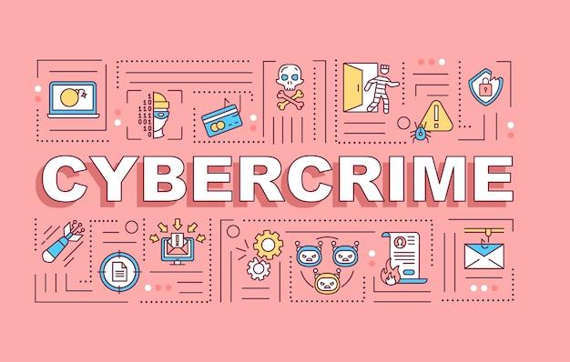 Cybercrime wortkonzepte banner Premium Vektoren
