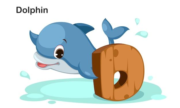 D für delphin Premium Vektoren