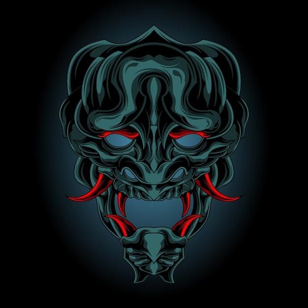 Dämonenmaske aus der dunkelheit Premium Vektoren