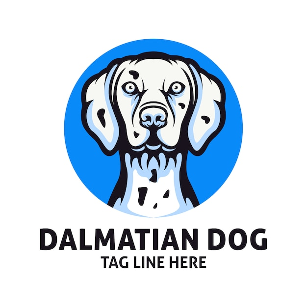 Dalmatinischer hund logo design vektor vorlage Premium Vektoren