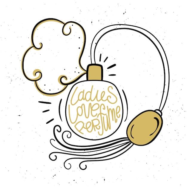 Damen lieben parfüm Premium Vektoren
