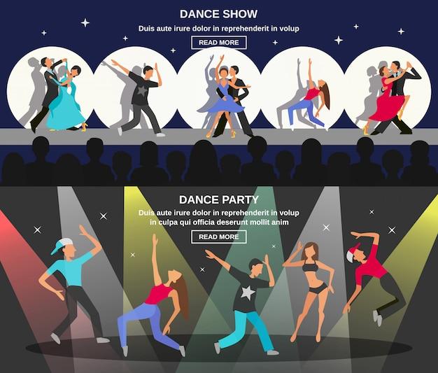 Dance flat banner Kostenlosen Vektoren