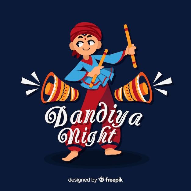 Dandiya nacht hintergrund Kostenlosen Vektoren