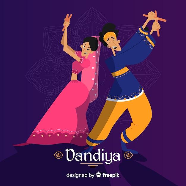 Dandiya tanz Kostenlosen Vektoren