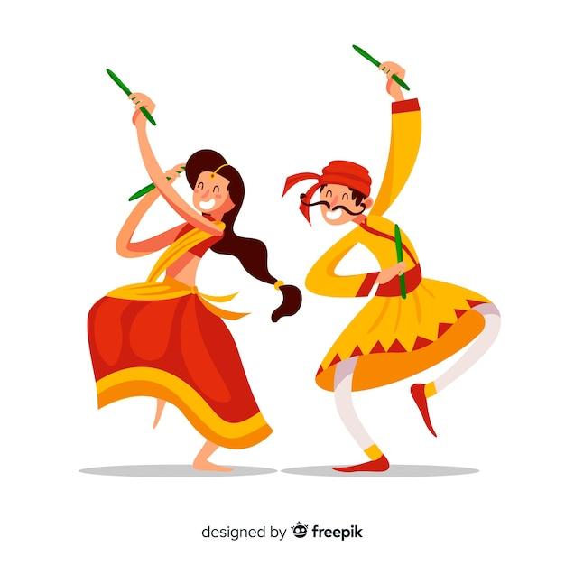 Dandiya Tänzer Kostenlose Vektoren