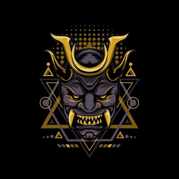 Dark gold geometrie-stil Premium Vektoren