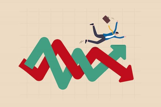 Darstellung der volatilität von finanzinvestitionen Premium Vektoren