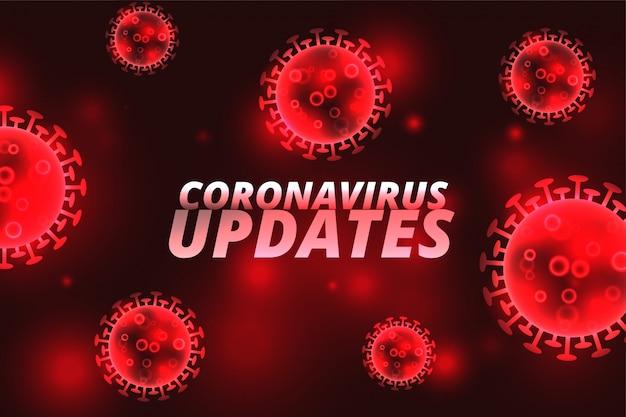 Das covid-19-coronavirus aktualisiert das infektionsrot-konzept Kostenlosen Vektoren