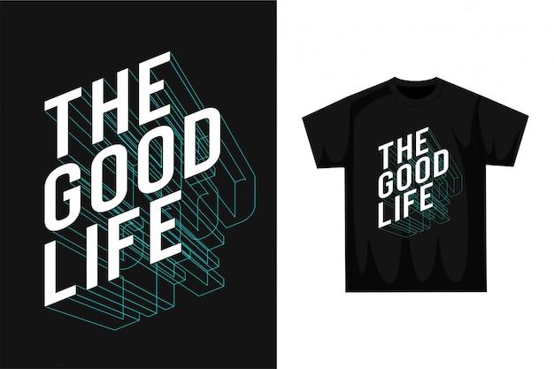 Das gute leben - typografie Premium Vektoren