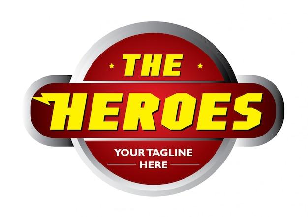 Das helden starke logo Premium Vektoren