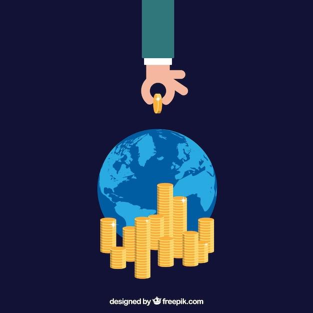 Das internationale business-gewinn Kostenlosen Vektoren