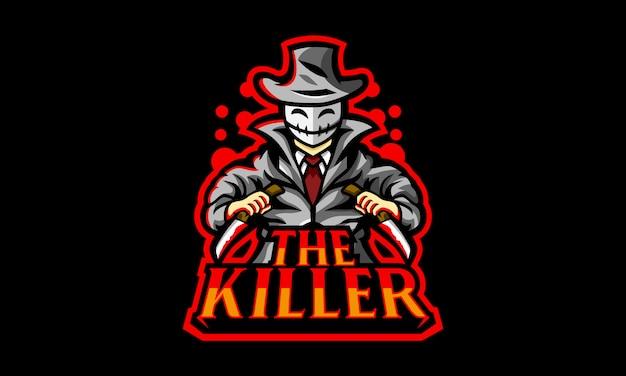 Das killer esports logo Premium Vektoren