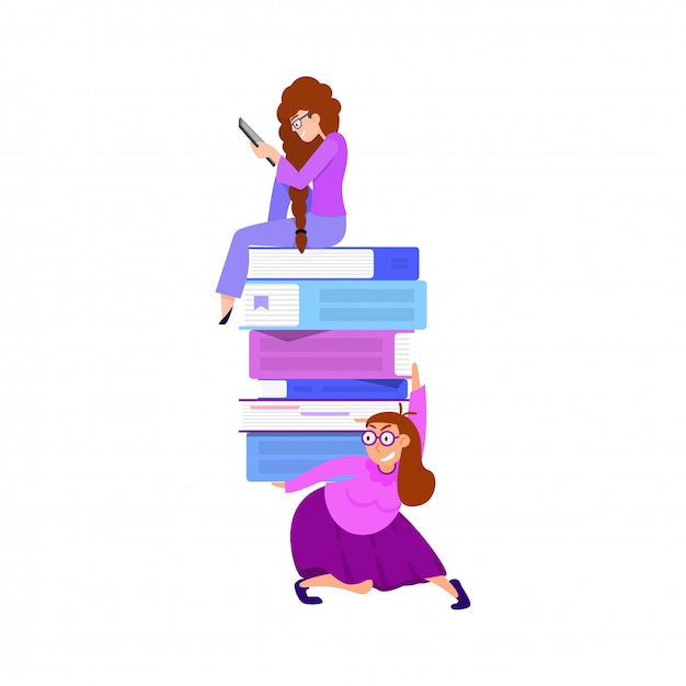 Das konzept der online-bibliothek Premium Vektoren
