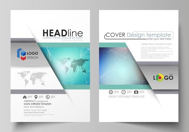 Das layout von zwei modernen a4-formaten umfasst vorlagen Premium Vektoren