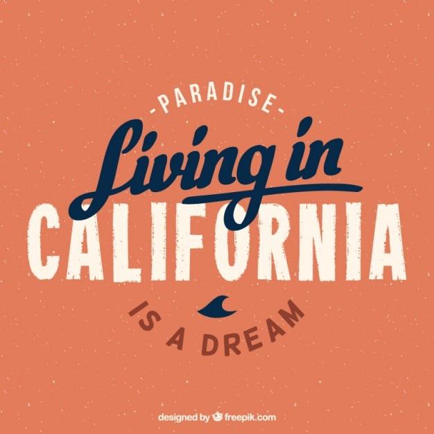 Das leben in kalifornien hintergrund Kostenlosen Vektoren