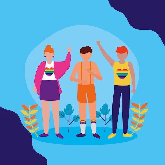 Das lgbtq-design der queeren community Kostenlosen Vektoren